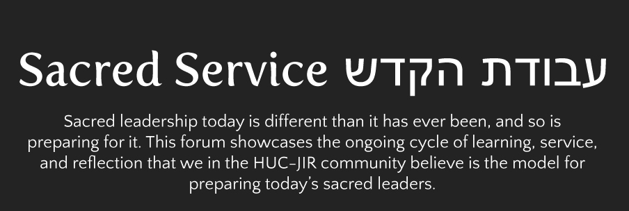 Sacred Service Learning